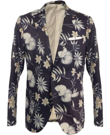 Scotch & Soda Navy 15010230006 Floral Chic Jacket