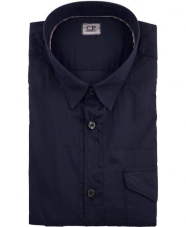 CP Company Navy 16SCPUS02216 Short Sleeve Short
