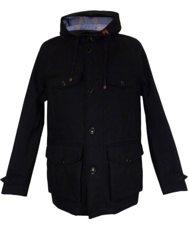 Baracuta Navy 3L Mountain Jacket Windbreaker Twist Coat