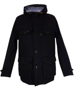 Baracuta Navy 3L Mountain Jacket Windbreaker Twist Coat