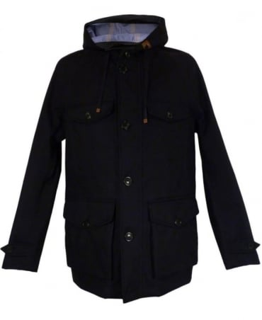 Navy 3L Mountain Jacket Windbreaker Twist Coat