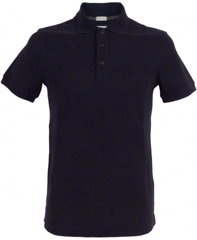 Armani Navy 3XCF89 Short Sleeve Polo