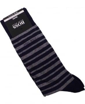 Hugo Boss Navy 50271381 Marc Striped Socks