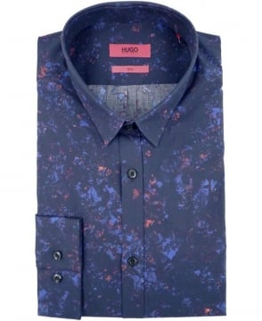 Hugo Navy 50289881 Ero3 Multi Speckles Print Shirt
