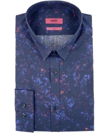 Navy 50289881 Ero3 Multi Speckles Print Shirt