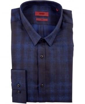 Hugo Boss Navy 50297064 Ero3 Blue Check Shirt