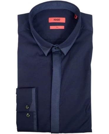Hugo Navy 50297235 Ecuador Tone-On-Tone Shirt