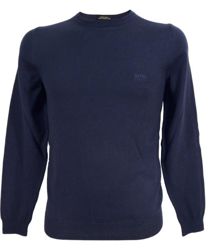 Hugo Boss Navy 50302547 Finello Crew Neck Knitwear