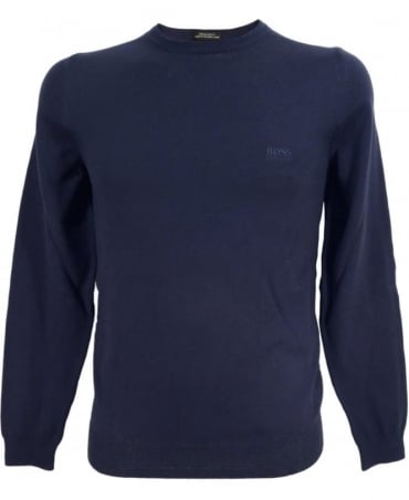 Hugo Boss Navy 50302547 Finello Crew Neck Knitwear