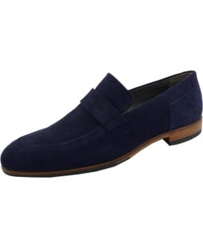Hugo Navy 50310010 C-Modelo Suede Loafer Shoe