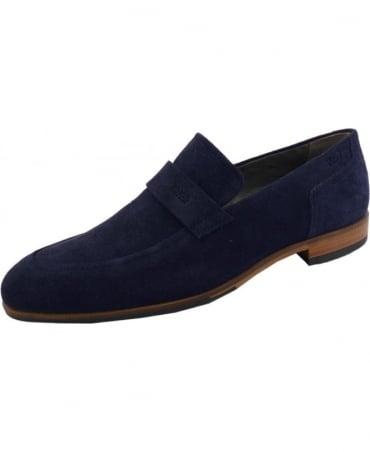 Hugo Navy 50310010 C-Modelo Suede Loafer Shoe