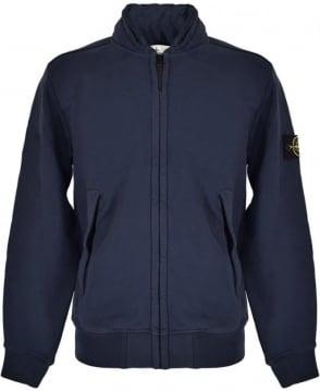 Stone Island Navy 63020 Zip Sweatshirt