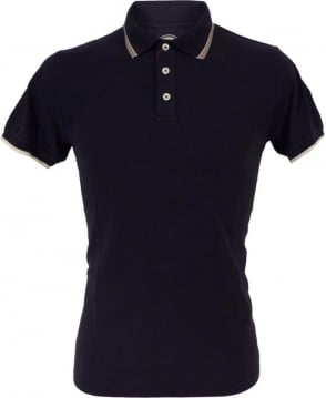 Colmar Originals Navy 7659W Grey Burgundy Trim Polo