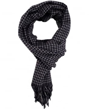 Gant Navy 91486 Houndstooth Woven Scarf