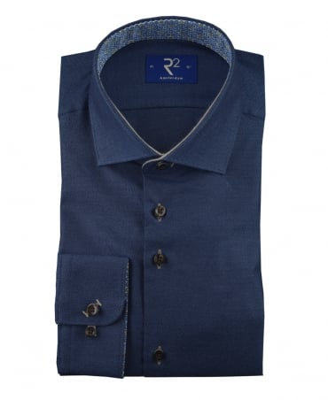 R2 Amsterdam Navy 95.WSP.03 Contrasting Coloured Circle Shirt
