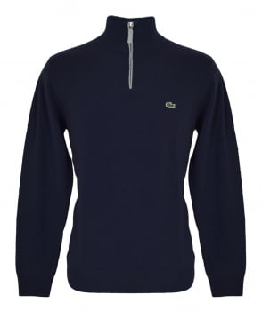 Lacoste Navy AH2988 Zip Up Jumper