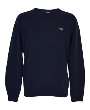 Lacoste Navy AH2995 Crew Neck Jumper