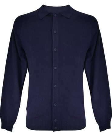 Lacoste Navy AH3040 Cotton Blend Cardigan