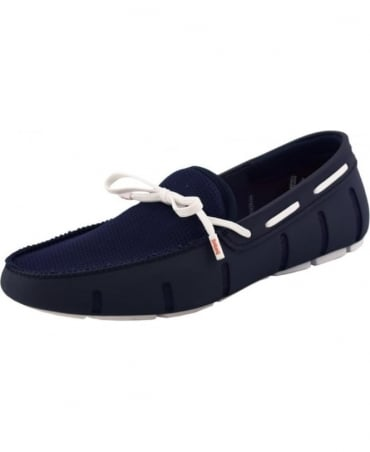 Swims Navy And White Lace Up Loafer