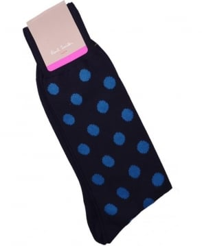 Paul Smith - Accessories Navy ANXA-800E-F929 Maxi Spot Socks