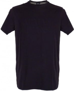 Armani Navy Appliqué Regular Fit T-Shirt