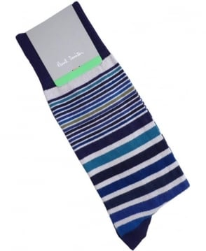 Paul Smith  Navy APXA-380A-K152 Paige Stripe Socks