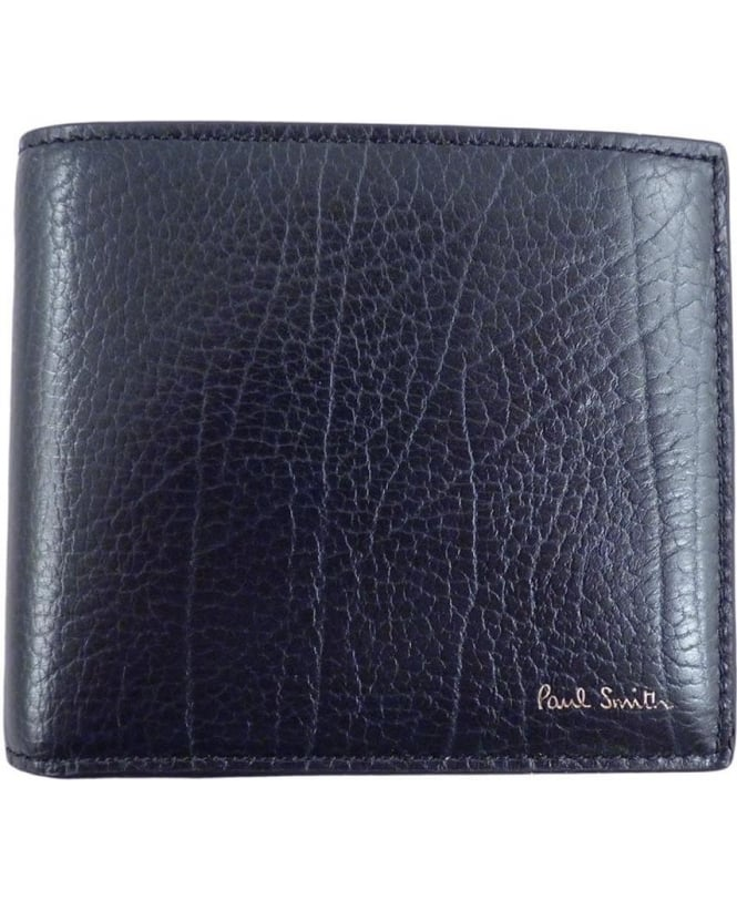 Paul Smith Navy APXA-4832-W753 Grained Leather Wallet