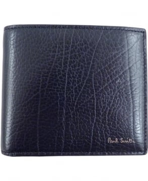 Paul Smith - Accessories Navy APXA-4832-W753 Grained Leather Wallet