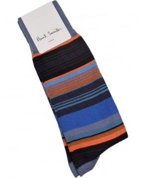 Paul Smith  Navy ARXC-380A-K272 Jess Stripe Socks