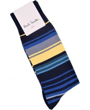 Paul Smith  Navy  ARXC-380A-K301 Town Stripe Socks