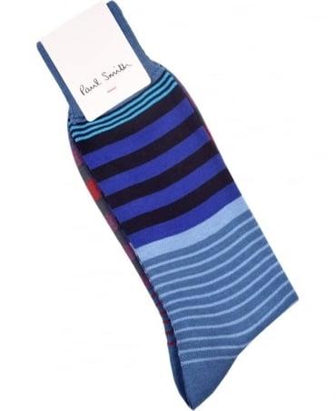 Paul Smith  Navy ARXC-800E-K285 Woven Stripe Socks