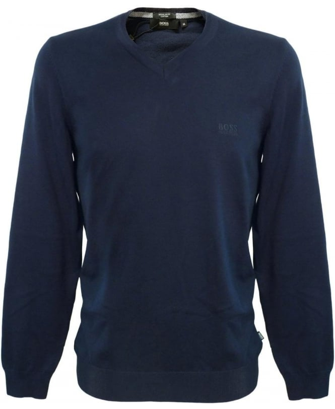 Hugo Boss Navy Barnabas-3 Knitwear Jumper 50262276