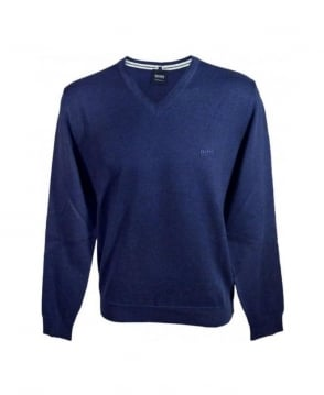 Hugo Boss Navy Barnabus Knit Jumper