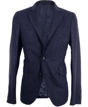 Nigel Hall Navy Barnes Single Breasted Wool Jacket