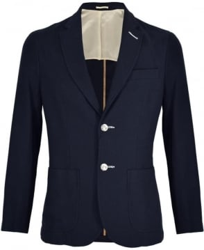 Holland Esquire Navy Bertie Waffle Knit Jacket