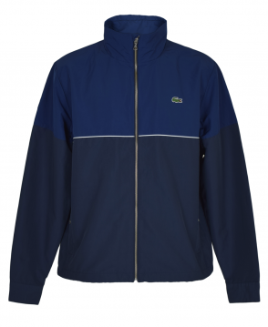 Lacoste Navy Blue Contrasting BH2331 Hooded Zippered Jacket