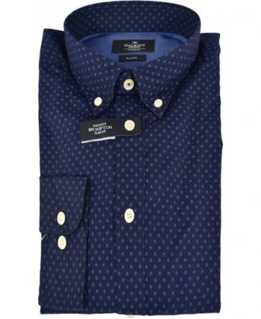 Hackett Navy/Blue Floating Square Print Shirt