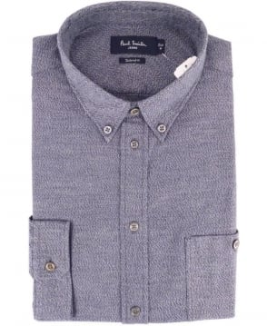 Paul Smith - Jeans Navy Blurred Marl Brushed-Cotton Shirt