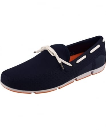 Swims Navy Breeze Lace Up Loafer