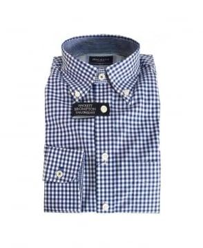 Hackett Navy Brompton Tailored Fit Shirt
