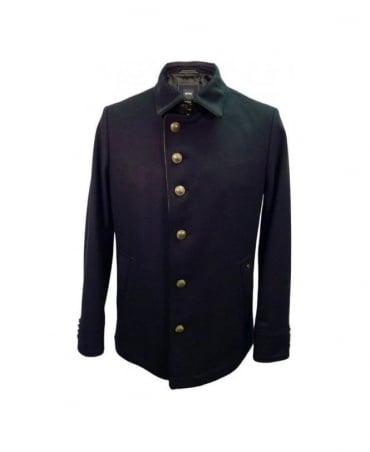 Hugo Boss Navy Cadmont 6 Buttoned Coat