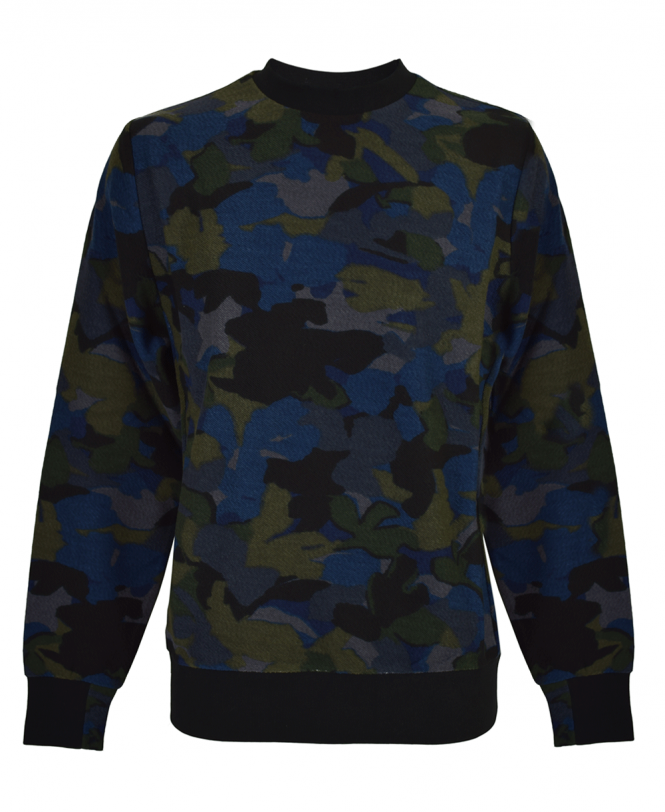 PS Paul Smith Navy Camouflage Sweatshirt