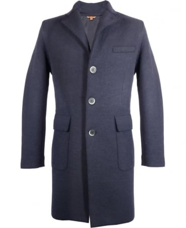 Barena Navy Capospalla Hand Made Three Button Coat