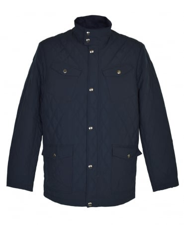 Gant Navy Central Pond Quilter Jacket