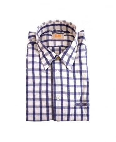 Hugo Boss Navy Check Cieloebue Shirt