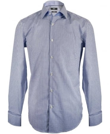 Hugo Boss Navy Check Slim Fit Shirt
