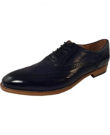 Paul Smith - Shoes Navy Christo Brogue Leather Shoes