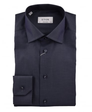 Eton Shirts Navy Contemporary Fit Signature Twill Shirt