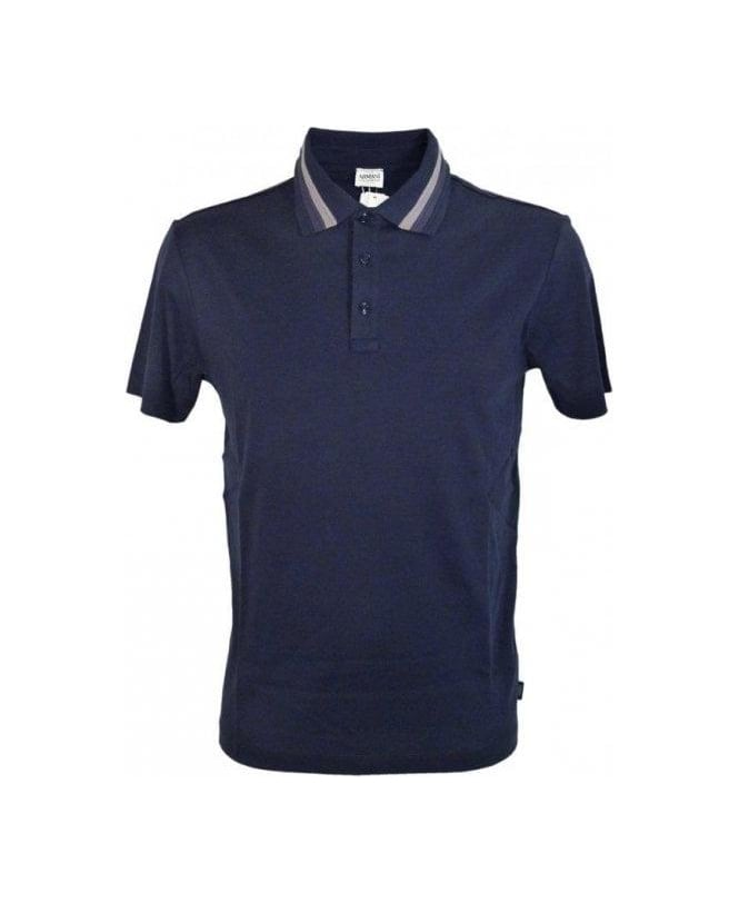 Armani Navy & Contrast Collar Polo