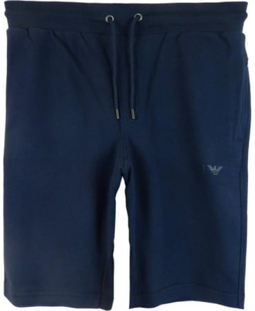 Armani Jeans Navy Cotton Drawstring Shorts